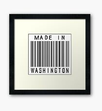 Made in Washington Framed Print