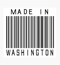 Made in Washington Photographic Print
