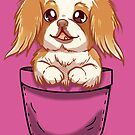 Pocket Cute Japanese Chin Dog by TechraNova