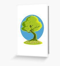 green tree Greeting Card