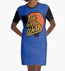 We Run The West Graphic T-Shirt Dress