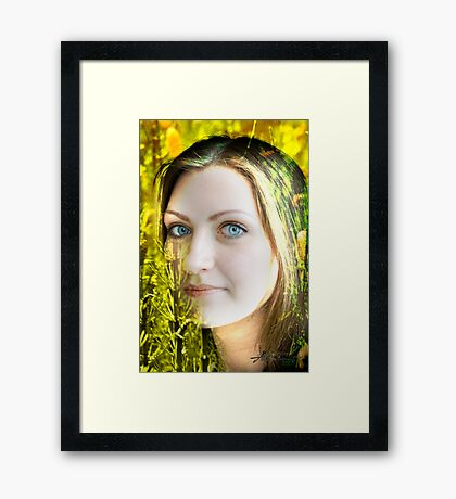 Stunning Eyes Framed Print