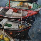 Boats of Newlyn by Stephen Mitchell