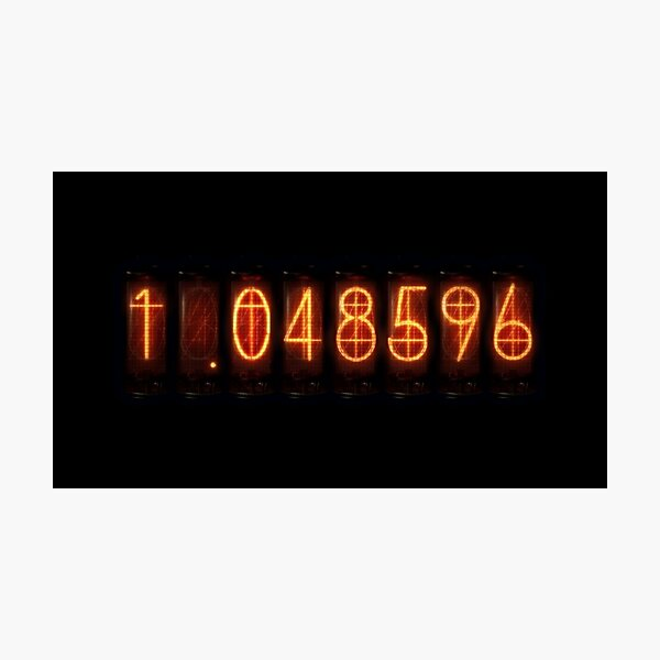 Steins Gate El Psy Congroo Divergence Meter Photographic Print By Maginstudios Redbubble