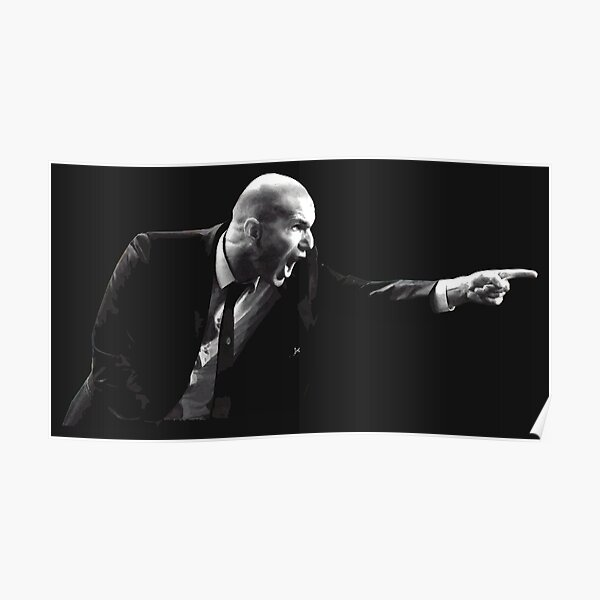 Zinedine Zidane trainer Poster
