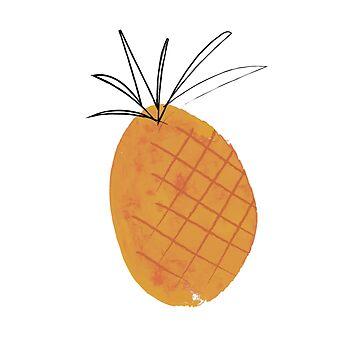 Freehand Pineapple by HoopandHoller