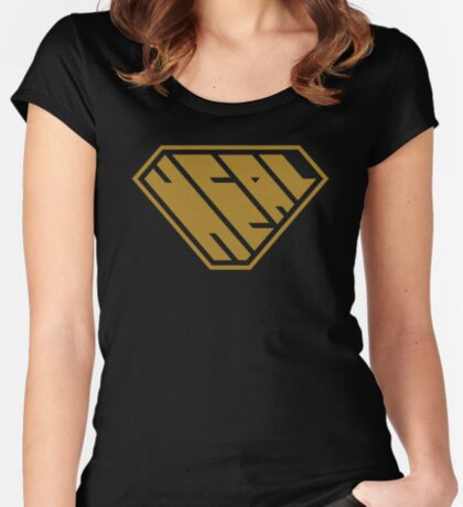 Heal SuperEmpowered (Gold) Women's Fitted Scoop T-Shirt