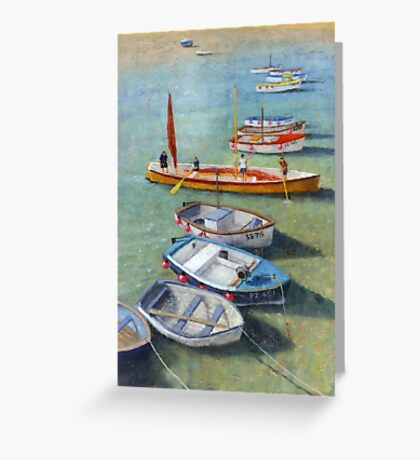 Boats of St. Ives Greeting Card
