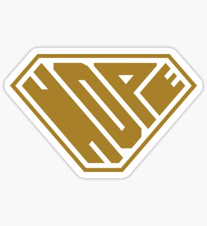 Hope SuperEmpowered (Gold) Sticker