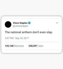 Vince Staples National Anthem Sticker Sticker