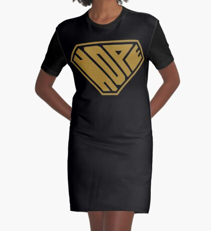Hope SuperEmpowered (Gold) Graphic T-Shirt Dress
