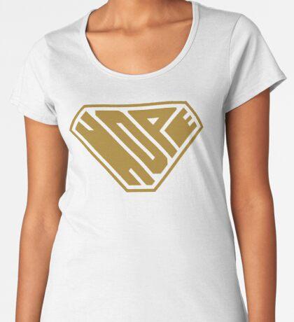 Hope SuperEmpowered (Gold) Premium Scoop T-Shirt