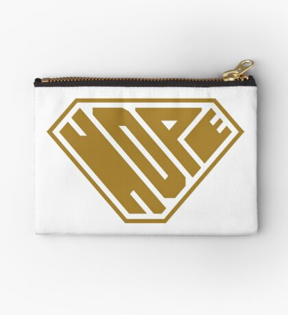 Hope SuperEmpowered (Gold) Zipper Pouch
