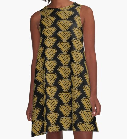 Hope SuperEmpowered (Gold) A-Line Dress