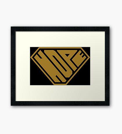 Hope SuperEmpowered (Gold) Framed Art Print