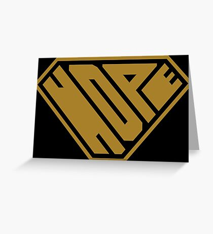 Hope SuperEmpowered (Gold) Greeting Card