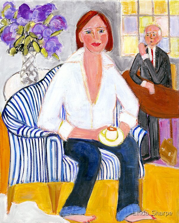 Coffee With Her Father by Linda  Sharpe