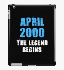 April 2000 Legend begins 18th birthday Shirt Tank Graphic T-shirt Phone Case Laptop Decal Mug Tablet Case and Bag iPad Case/Skin
