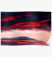 Fire in clouds Poster