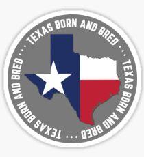 Texas Born and Bred Native Texan TX State Flag Sticker