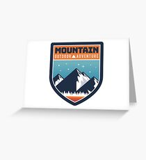 Mountain Outdoor Adventure  Greeting Card