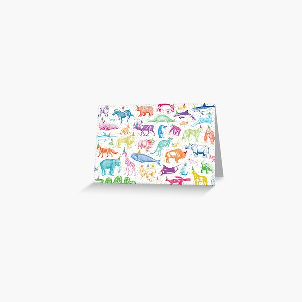 Party Animals Greeting Card