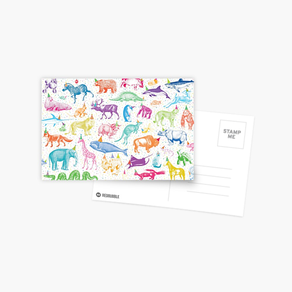 Party Animals Postcard