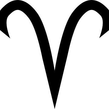 Aries Horoscope Astrology Zodiac Black by GrizzlyGaz