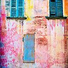 Rotting facade with two windows by Silvia Ganora