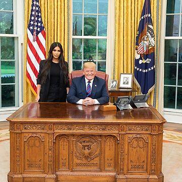 Donald Trump and Kim Kardashian by itswillharris