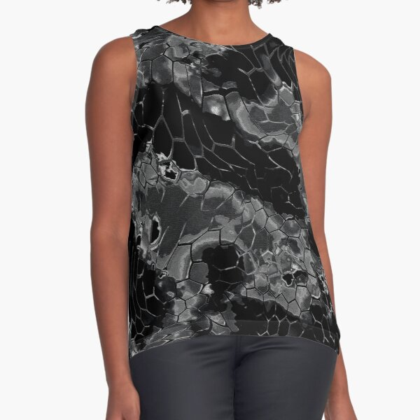 Animal print design - black dragon Sleeveless Top