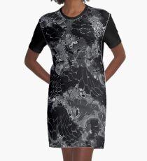 Animal print design - black dragon Graphic T-Shirt Dress