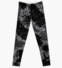 Animal print design - black dragon Leggings