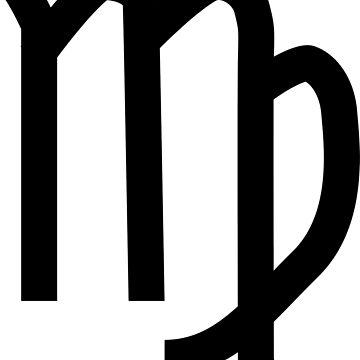 Virgo Horoscope Astrology Zodiac Black by GrizzlyGaz