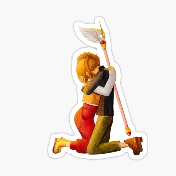 Sakura and Syaoran's hug Sticker