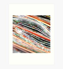 mapping the abstract Art Print