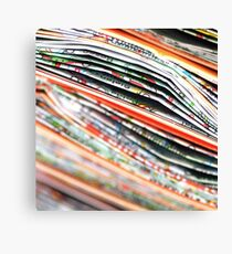 mapping the abstract Canvas Print