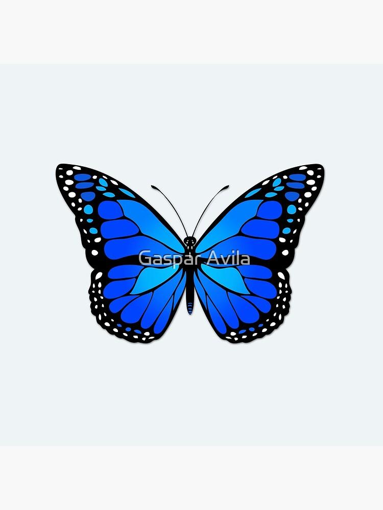 Blue butterfly by gavila