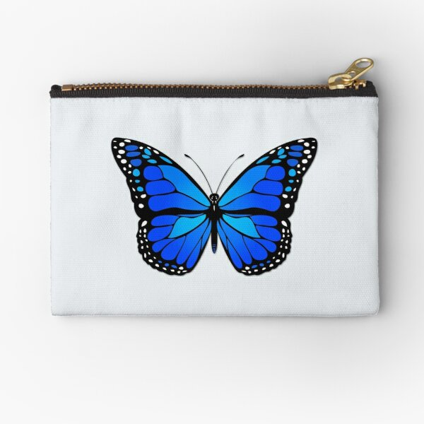 Blue butterfly Zipper Pouch