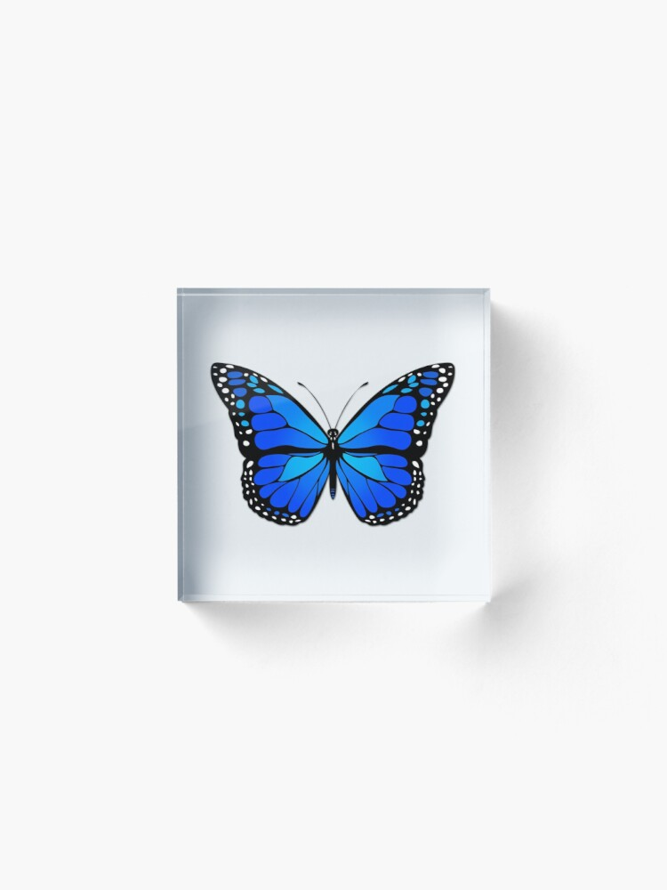 Alternate view of Blue butterfly Acrylic Block