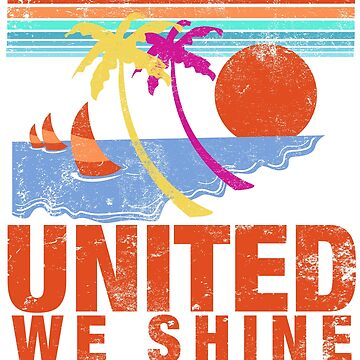 United we shine tropical beach July 4th History Teacher Graphic T shirt by DesIndie