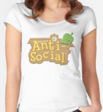 Animal Crossing Anti-Social Women's Fitted Scoop T-Shirt