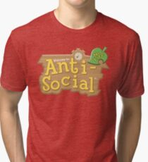 Animal Crossing Anti-Social Tri-blend T-Shirt