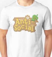 Camiseta ajustada Animal Crossing Anti-Social