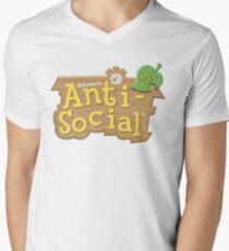 Animal Crossing Anti-Social Men's V-Neck T-Shirt