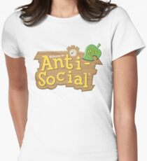 Animal Crossing Anti-Social Women's Fitted T-Shirt