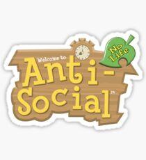 Animal Crossing Anti-Social Sticker