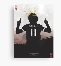 Salah The Egyptian King Liverpool Football Club Design Canvas Print