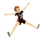 Jumping Hinata Shouyou by monic-artt