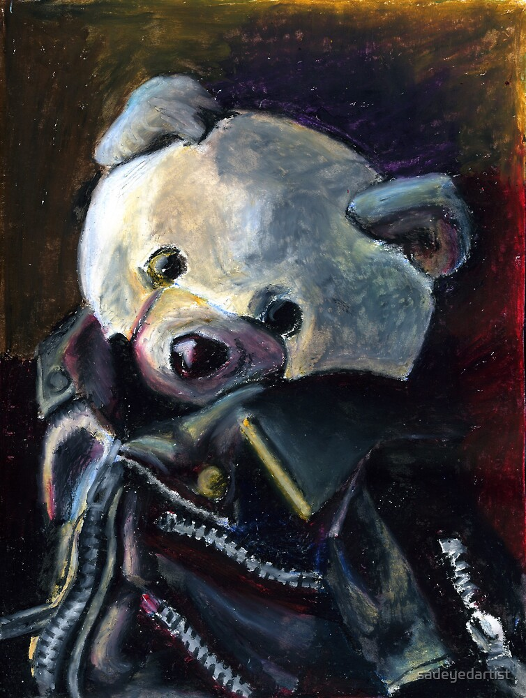 Bernard (Punk Rock Teddy Bear) by sadeyedartist